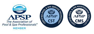 APSP Association Professional Pool & Spa Certification Badges