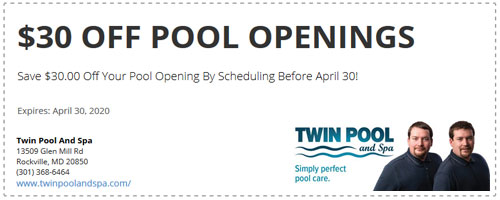Twin Pool And Spa Coupon 1