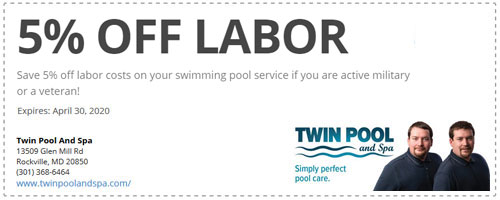 Pool Service Discount for Active Military & Veterans